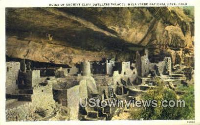 Ancient Cliff Dwellers - Mesa Verde National Park, Colorado CO Postcard