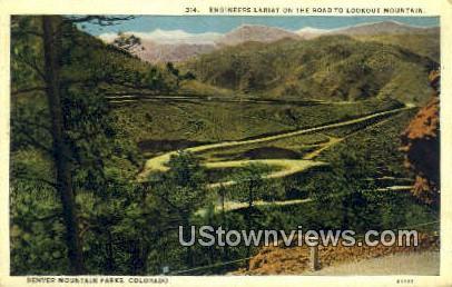 Engineers Lariat - Denver Mountain Parks, Colorado CO Postcard