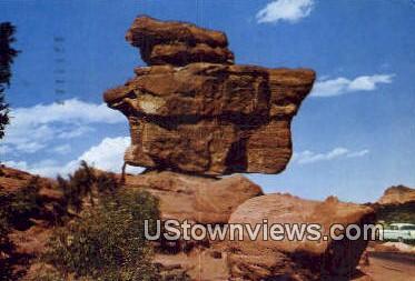 Balanced Rock - Colorado Springs Postcards, Colorado CO Postcard
