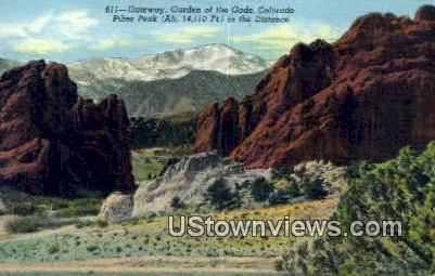 Gateway - Garden of the Gods, Colorado CO Postcard
