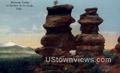 Garden of the Gods - Colorado CO Postcard