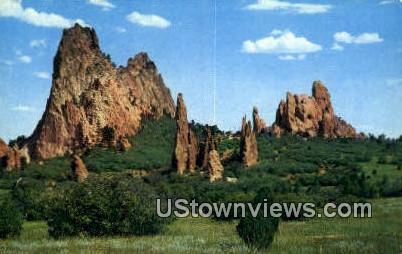 Garden of the Gods, CO     ;     Garden of the Gods, Colorado Postcard