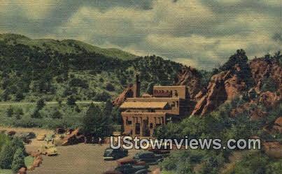 Hidden Inn - Garden of the Gods, Colorado CO Postcard