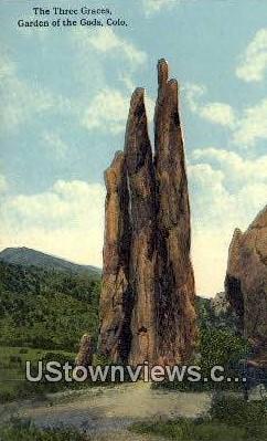 Three Graces - Garden of the Gods, Colorado CO Postcard