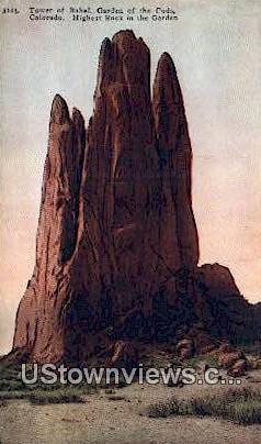 Tower of Babel - Garden of the Gods, Colorado CO Postcard