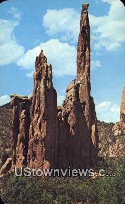 Montezuma Temple - Garden of the Gods, Colorado CO Postcard