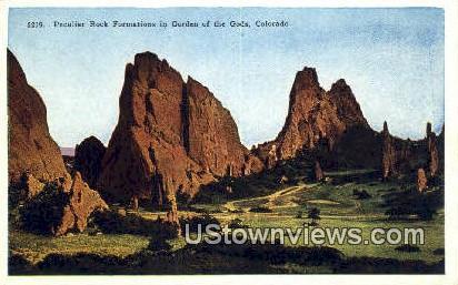 Peculiar Rock Formations - Garden of the Gods, Colorado CO Postcard