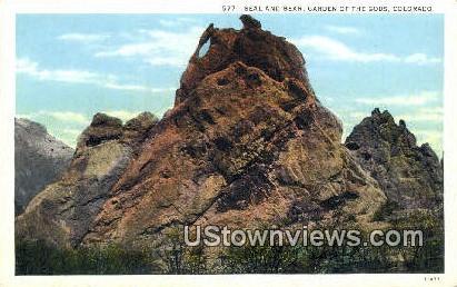 Bear & Seal - Garden of the Gods, Colorado CO Postcard