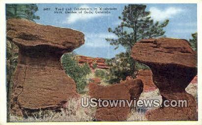 Mushroom Park - Garden of the Gods, Colorado CO Postcard