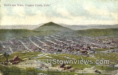 Cripple Creek, CO     ;     Cripple Creek, Colorado Postcard