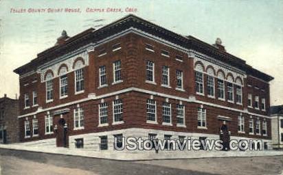 Teller County Court House - Cripple Creek, Colorado CO Postcard