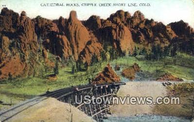 Cathedral Rocks - Cripple Creek, Colorado CO Postcard