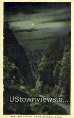 Box Canyon - Cripple Creek, Colorado CO Postcard