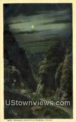 Box Canon - Cripple Creek, Colorado CO Postcard