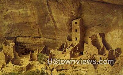 Square Tower House - Mesa Verde National Park, Colorado CO Postcard