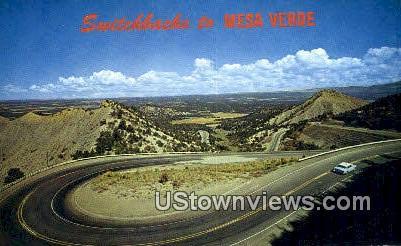 Switchbacks - Mesa Verde National Park, Colorado CO Postcard