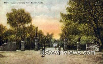City Park - Pueblo, Colorado CO Postcard