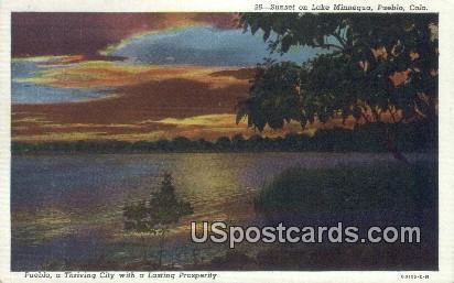Lake Minnequa - Pueblo, Colorado CO Postcard