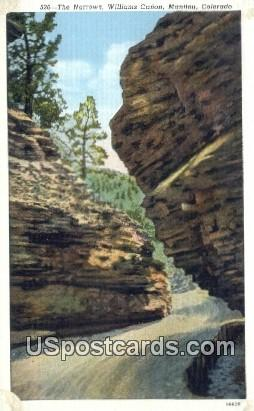 The Narrows, William Canon - Manitou, Colorado CO Postcard