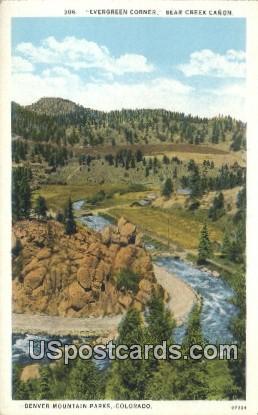 Bear Creek Canyon - Denver Mountain Parks, Colorado CO Postcard