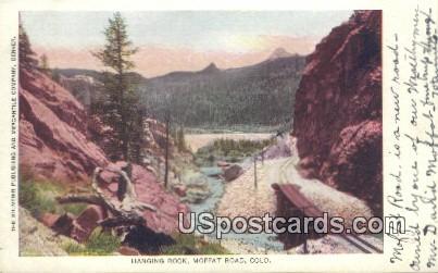 Hanging Rock - Moffat Road, Colorado CO Postcard