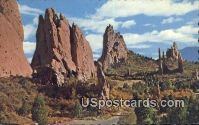 Spires, Garden of the Gods - Pikes Peak Region, Colorado CO Postcard