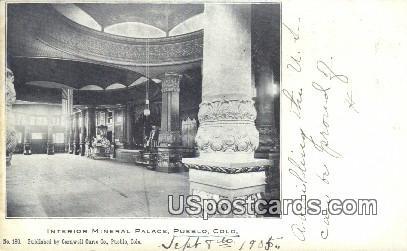 Interior Mineral Palace - Pueblo, Colorado CO Postcard