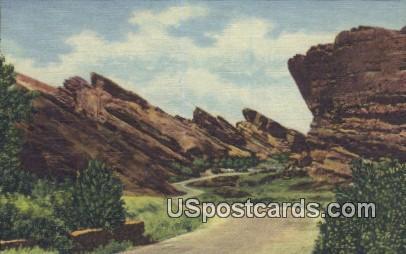 Red Rocks - Denver Mountain Parks, Colorado CO Postcard