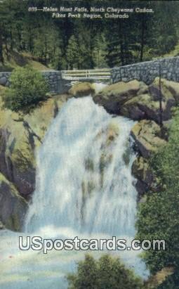 Helen Hunt Falls, North Cheyenne Canon - Pikes Peak Region, Colorado CO Postcard
