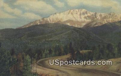 Pikes Peak Auto Highway - Pikes Peak Region, Colorado CO Postcard