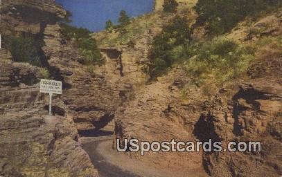 The Narrows, William Canon - Manitou Springs, Colorado CO Postcard