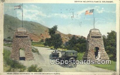 Bear Creek Entrance - Denver Mountain Parks, Colorado CO Postcard