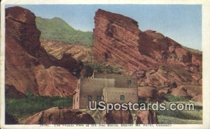 Pueblo Park, Red Rocks - Denver Mountain Parks, Colorado CO Postcard