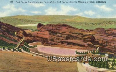 Red Rocks Amphitheatre - Denver Mountain Parks, Colorado CO Postcard