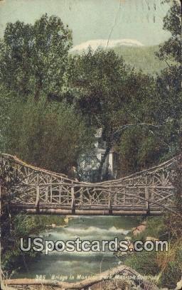 Bridge in Mansios Park - Manitou, Colorado CO Postcard