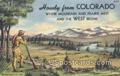 Greetings from, CO Postcard       ;       Greetings from, Colorado