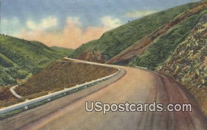 Mt Vernon Canon - Denver Mountain Parks, Colorado CO Postcard