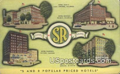 Hotel Whitman - Pueblo, Colorado CO Postcard