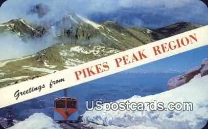 Pikes Peak Region, Colorado Postcard       ;       Pikes Peak Region, CO