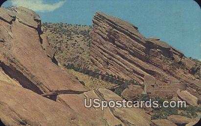 Great Rocks, Red Rocks Park - Denver Mountain Parks, Colorado CO Postcard