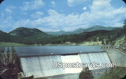 Evergreen Dam & Lake - Denver Mountain Parks, Colorado CO Postcard