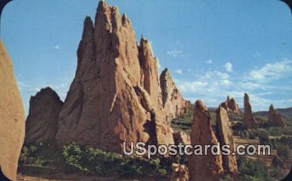 Garden of the Gods - Pikes Peak Region, Colorado CO Postcard
