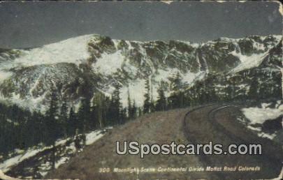 Continental Divide - Moffat Road, Colorado CO Postcard