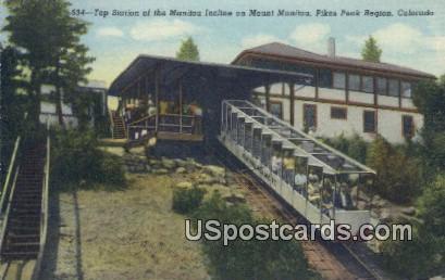 Top Station, Manitou Incline - Pikes Peak Region, Colorado CO Postcard