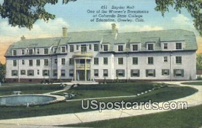 Snyder Hall, Colorado State College - Greetings from Postcard