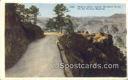 Victory Highway - Denver Mountain Parks, Colorado CO Postcard