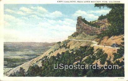 Knife Edge Road - Mesa Verde National Park, Colorado CO Postcard