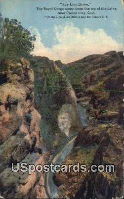 Sky Line Drive, Royal Gorge - Canon City, Colorado CO Postcard
