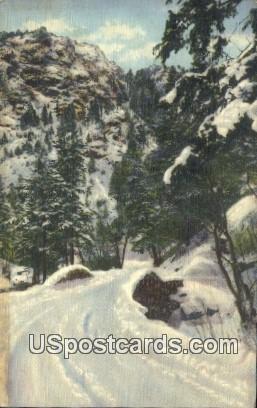 Winter in North Cheyenne Canon - Pikes Peak Region, Colorado CO Postcard