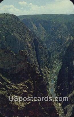 Black Canyon of the Gunnison - Black Canyon National Monument, Colorado CO Postcard